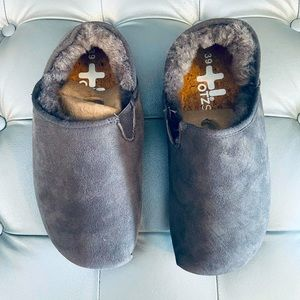 OTZ Shoes Suede Shearling Lined Slip-on Shoes